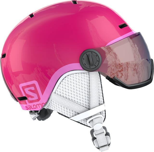 Salomon Grom Visor Junior Kask narciarski dla Dzieci